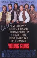 "Emilio Estevez Signed ""Young Guns"" 11x17 Movie Poster (Schwartz Sports COA) at PristineAuction.com"