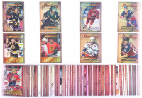 Complete Set of (191) 1995-96 Finest Refractors Hockey Cards With #19 Chris Chelios, #2 Ray Bourque, #185 Jaromir Jagr, #190 Mario Lemieux, #100 Peter Forsberg, #180 Wayne Gretzky at PristineAuction.com