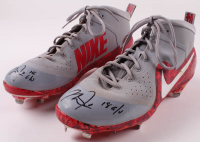 "Mike Trout Signed Game-Used 2018 Pair of Player Model Nike Cleats Inscribed ""18 G/U"" (Anderson Authentics LOA) at PristineAuction.com"