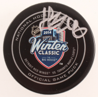Henrik Zetterberg Signed 2014 Winter Classic Logo Hockey Puck (Beckett COA) at PristineAuction.com