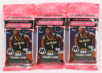 Lot of (3) 2019-20 Panini Mosaic Prizm Basketball Cello Packs with (15) Cards at PristineAuction.com