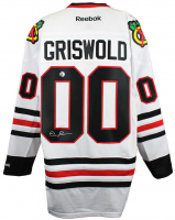 "Chevy Chase Signed ""National Lampoon's Christmas Vacation"" Blackhawks Jersey (Chase Hologram) at PristineAuction.com"
