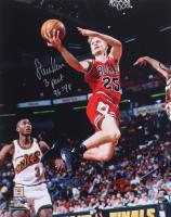 "Steve Kerr Signed Bulls 16x20 Photo Inscribed ""3 Peat 96-98"" (Schwartz Sports COA) at PristineAuction.com"
