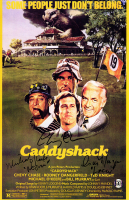 "Chevy Chase, Michael O'Keefe, & Cindy Morgan Signed ""Caddyshack"" 11x17 Photo with Inscriptions (Schwartz COA & Chase Hologram) at PristineAuction.com"