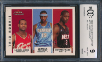 LeBron James RC / Carmelo Anthony RC / Dwyane Wade RC 2003-04 Fleer Tradition #300 (BCCG 9) at PristineAuction.com