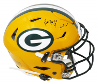 "Brett Favre Signed Packers Full-Size Authentic On-Field SpeedFlex Helmet Inscribed ""HOF 16"" (Schwartz Sports COA) at PristineAuction.com"