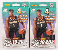 Lot of (2) 2019-20 Panini Mosaic Basketball Hanger Box of (20) Cards at PristineAuction.com
