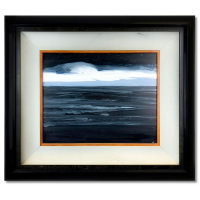"Wyland Signed ""Nighttime Sky"" 32x28 Custom Framed Original Painting on Board at PristineAuction.com"