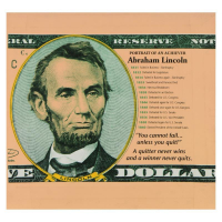 "Steve Kaufman Signed ""Abraham Lincoln"" Limited Edition 20x20 Hand Pulled Silkscreen on Canvas #67/200 at PristineAuction.com"