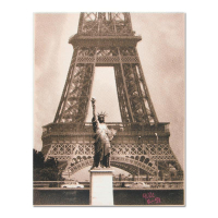 "Ringo Signed ""Eiffel Tower"" 12x16 One-of-a-Kind Hand Pulled Silkscreen on Canvas at PristineAuction.com"