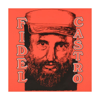 """Steve Kaufman Signed """"Fidel Castro"""" Limited Edition 24x24 Hand Pulled Silkscreen on Canvas #47/50 at PristineAuction.com"""