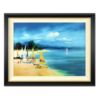 "H. Leung Signed ""Summer Sail"" Limited Edition 44x35 Custom Framed Giclee on Canvas Board #215/750 at PristineAuction.com"
