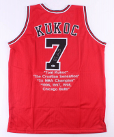 Toni Kukoc Signed Career Highlight Stat Jersey (Beckett Hologram) at PristineAuction.com