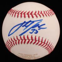 Justin Verlander Signed LE OML Career Stat Engraved Baseball (Beckett COA) at PristineAuction.com