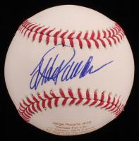 Jorge Posada Signed LE OML Career Stat Engraved Baseball (JSA COA) at PristineAuction.com