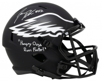 "Jason Kelce Signed Eagles Eclipse Alternate Full-Size Speed Helmet Inscribed ""Hungry Dogs Run Faster!"" (JSA COA) at PristineAuction.com"