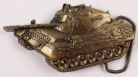Brass Military Tank Belt Buckle at PristineAuction.com