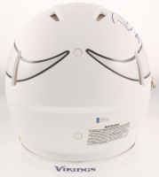 """Randy Moss Signed Vikings Full-Size Matte White Authentic On-Field Speed Helmet Inscribed """"Straight Cash Homie"""" (Beckett COA) at PristineAuction.com"""