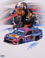 Martin Truex Jr. Signed NASCAR #19 11x14 Photo (PA COA) (See Description) at PristineAuction.com