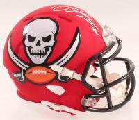 Mike Alstott Signed Buccaneers AMP Alternate Speed Mini-Helmet (Schwartz Sports COA) at PristineAuction.com