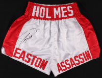 "Larry Holmes Signed ""Easton Assassin"" Boxing Trunks (PSA COA) at PristineAuction.com"
