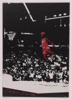 Michael Jordan 12x17 Limited Edition Metal Art Print at PristineAuction.com