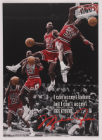 Michael Jordan 12x17 Limited Edition Metal Art Print at PristineAuction.com
