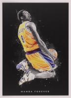 Kobe Bryant 12x17 Limited Edition Metal Art Print at PristineAuction.com