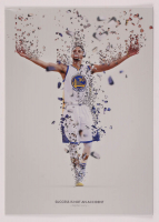 Stephen Curry 12x17 Limited Edition Metal Art Print at PristineAuction.com