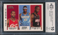 LeBron James RC / Carmelo Anthony RC / Dwyane Wade RC 2003-04 Fleer Tradition #300 (BCCG 10) at PristineAuction.com