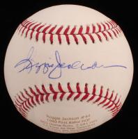 Reggie Jackson Signed LE OML Career Stat Engraved Baseball (JSA COA) at PristineAuction.com
