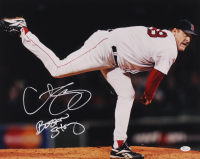 """Curt Schilling Signed Red Sox 16x20 Photo Inscribed """"Boston Strong"""" (JSA COA) at PristineAuction.com"""