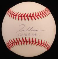 "Tom Glavine Signed ONL Baseball Inscribed ""Cy 91 & 98"" (JSA COA) at PristineAuction.com"