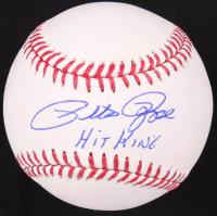 "Pete Rose Signed OML Baseball Inscribed ""Hit King"" (Fiterman Hologram) at PristineAuction.com"
