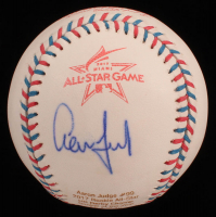 Aaron Judge Signed LE 2017 All-Star Game Career Stat Engraved Baseball (Beckett COA) at PristineAuction.com