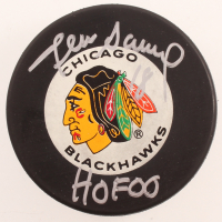"Denis Savard Signed Blackhawks Logo Hockey Puck Inscribed ""HOF 00"" (Beckett COA) at PristineAuction.com"