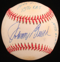Johnny Bench Signed ONL Baseball with (10) Career Stat Inscriptions (JSA COA) at PristineAuction.com