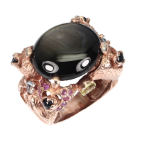 18.50ct Black Star Sapphire Ring (GIA Cert) at PristineAuction.com