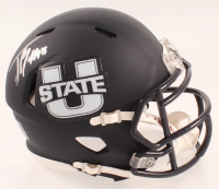 Jordan Love Signed Utah State Aggies Matte Black Speed Mini-Helmet (JSA COA) at PristineAuction.com
