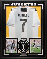 Cristiano Ronaldo Signed 34.5x42.5 Custom Framed Juventus Jersey (Beckett COA) at PristineAuction.com
