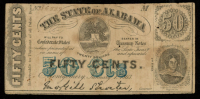 1863 50¢ Fifty Cents - The State of Alabama Bank Note at PristineAuction.com
