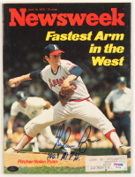 "Nolan Ryan Signed 1975 ""Newsweek"" Magazine Inscribed ""100.9 M.P.H."" (PSA COA & Ryan Hologram) at PristineAuction.com"