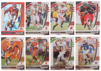 Lot of (8) 2020 Panini Prizm Draft Picks Football Cards with #102 Justin Herbert RC, #157 C.J. Henderson RC, #99 Travis Kelce, #168 Xavier McKinney RC at PristineAuction.com