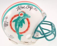 "Mark ""Super"" Duper & Mark Clayton Signed Dolphins Throwback Mini Helmet (JSA COA) at PristineAuction.com"
