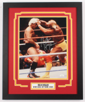 Hulk Hogan Signed WWE 18x22 Custom Framed Photo Display (JSA COA) at PristineAuction.com