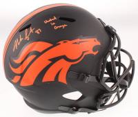 """Noah Fant Signed Broncos Full-Size Eclipse Alternate Speed Helmet Inscribed """"United in Orange"""" (JSA COA) at PristineAuction.com"""