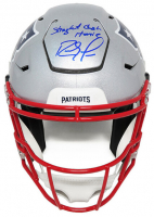 """Randy Moss Signed Patriots Full-Size Authentic On-Field SpeedFlex Helmet Inscribed """"Straight Cash Homie"""" (Schwartz Sports COA) at PristineAuction.com"""