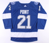 Brayden Point Signed Lightning Jersey (PSA COA) at PristineAuction.com