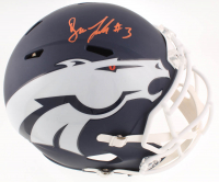Drew Lock Signed Broncos Full-Size AMP Alternate Speed Helmet (JSA COA) at PristineAuction.com