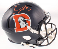 Drew Lock Signed Broncos Full-Size Throwback Speed Helmet (JSA COA) at PristineAuction.com